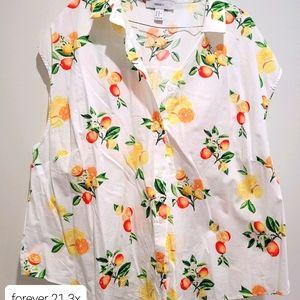 Forever 21 sz 3XL Citrus shirt